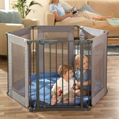 LINDAM Safe and Secure Soft Playpen Grey