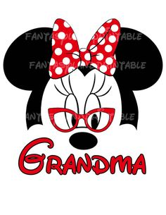 Minnie Mouse gafas Classic rojo arco por FantasylandPrintable
