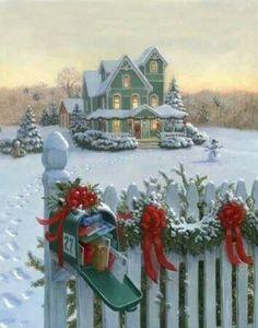 esta imagem linda de um natal vitoriano