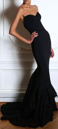 Black 2015 Evening Gowns 2015 Chiffon Mermaid Zuhair Murad Sweetheart Tiers Simple Sweep Train Zipper Bridesmaid Pageant Prom Dresses for U Lace Dresses, Pretty Dresses, Prom Dresses, Short Dresses, Formal Dresses, Dress Prom, Formal Prom, Bridesmaid Dresses, Party Dress