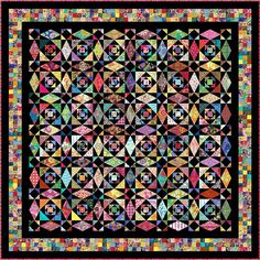 "INTRINSIC - 122""x 122"" Large King or 105""x 105"" King - Quilt-Addicts Pre-cut Quilt Kit"