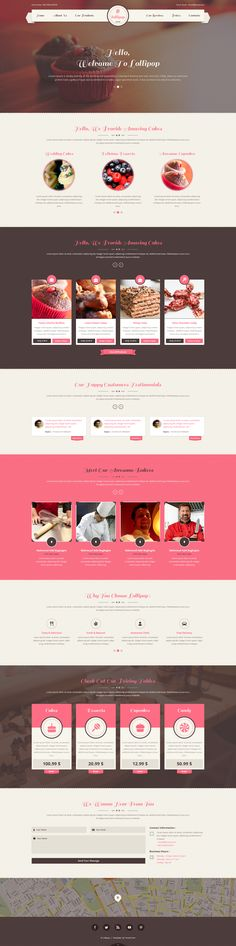 Lollipop is a clean, modern and creative Sweet PSD Template