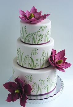 Lily of the valley wedding cake by bubolinkata, via Flickr