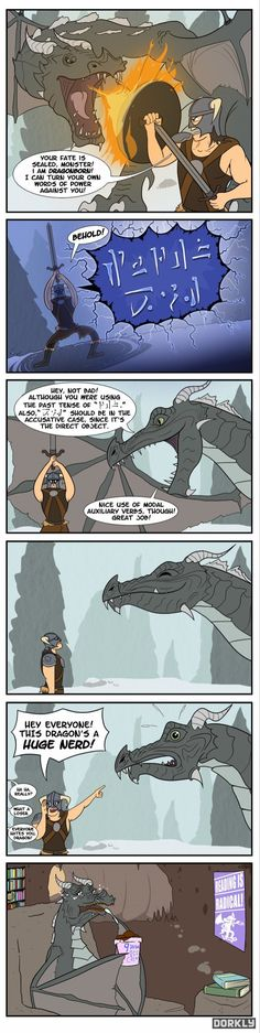 The Best Way To Defeat a Dragon in Skyrim comic full