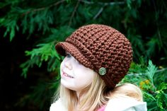 CYBER MONDAY SALE Girl's Brimmed Beanie w/ Band by OliJAccessories, $16.10
