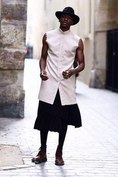 L' Atelier / II  (by Roger Mbee)  Follow my blog for men in skirts & tights: http://tumblr.ufash.com/