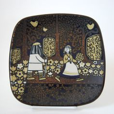 RESERVED Vintage Arabia Finland Kalevala Plate 1977 Raija Uosikkinen