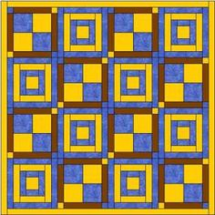 The White House steps is very simple and I've teamed it with another easy block to make an eyecatching quilt pattern that grows quickly.