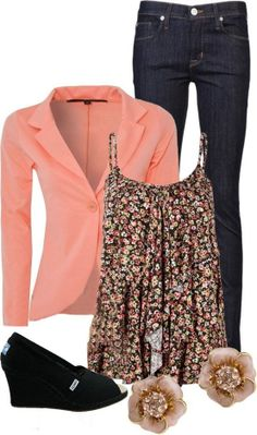 Coral & Floral...I love everything but the shoes!