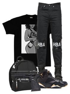 """""""Untitled #477"""" by alainnajones ❤ liked on Polyvore featuring Hood by Air and NIKE"""
