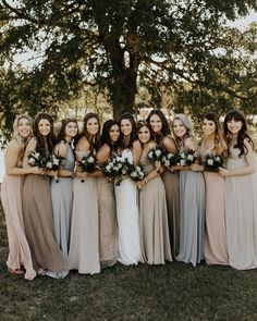 Lace Allure Bridals wedding dress with A-line skirt and sweetheart illusion neckline by Allure Bridals {Jeremy Lee Bachuss Photography Beach Bridesmaids, Mismatched Bridesmaid Dresses, Bridesmaid Flowers, Wedding Bridesmaid Dresses, Wedding Party Dresses, Allure Bridals, Beige Wedding, Dream Wedding, Spring Wedding