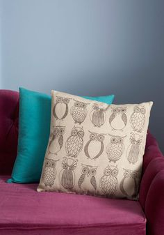 Owl the Better Pillow, #ModCloth
