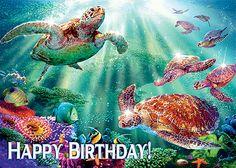 hawaiian birthday cards for facebook   Turtle Voyage - Hawaiian Happy Birthday Greeting Card