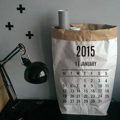 Instagram media by blacksis_pl - Kalendarz à la Blacksis!  #calendar #paperbags #blacksis #wallstickers