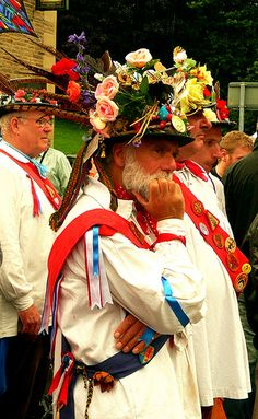 Morris Dancers, Rushbearing Festival, Halifax, UK 7 sep 103 by AngelasTravels, via Flickr