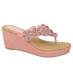 New Women Flip Flops Platform Thong Sandals Fashion Colors Wedge Heel Shoes 8 US Shoes Heels Wedges, Wedge Sandals, Shoes Sandals, Flats, Floral Wedges, Womens Flip Flops, Fashion Colours, Huaraches, Shoes Sport