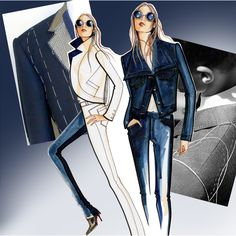 Illustration by Paul Keng for Otis Fashion inspired by Tailor Jacket for JBrand