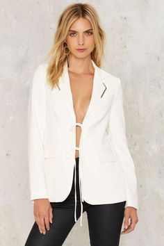 Lavish Alice Slit Back and Relax Jacket | Shop Clothes at Nasty Gal!