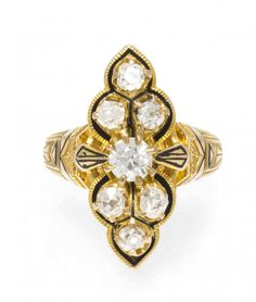 An Edwardian 18 Karat Yellow Gold, Diamond and Enamel : Lot 4