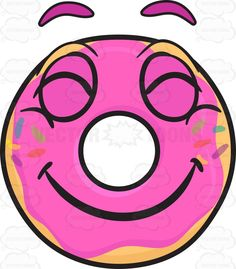 Donut With A Big Smile And Beaming Look On Face Emoji 1