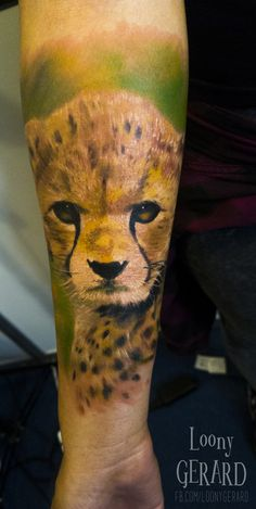 By @loonygerard, Poland lampart tattoo cat