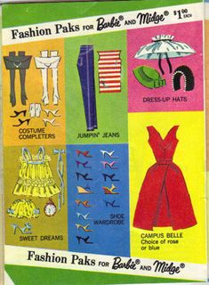 1964 Campus Bell Dress Barbie Booklet