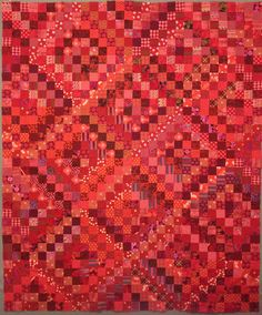 Scrappy Red Quilt