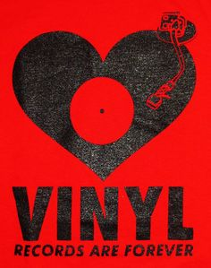Vinyl Records Are Forever. Not sure about the quote, but I like the graphics. #music #vinylrecords  #musicquotes