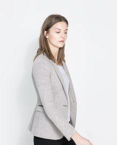 Image 2 of HERRINGBONE BLAZER from Zara