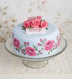 Delicious Designs by Jill Pryor: Feeling Rosey Edible Roses, Edible Art, Painted Cakes, Decorated Cakes, Edible Creations, Coming Up Roses, Rose Cake, Love Rose, Let Them Eat Cake