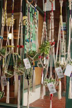 Cool! Macrame hangers