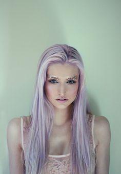 Glitter Eyebrows & Lilac Locks
