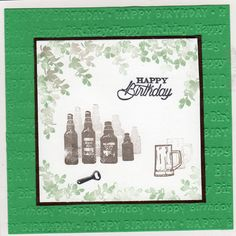 Beer card using cardio stamps