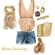 the top, the shorts and the shoes please!
