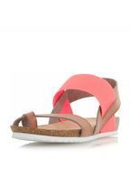 Womens *Head Over Heels by Dune Coral Laury Flat Sandals- Coral