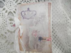 Shabby Chic Style  Card Distress Back Ground  Seam by mslizz, $5.50