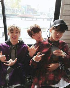 Chan, Hyun Jin and Chang Bin #StrayKids