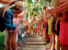 Bid Day Ideas - a tunnel to proudly welcome in the newest members