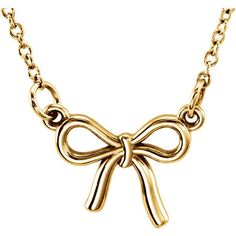 14k Gold Petite Knotted Bow Necklace