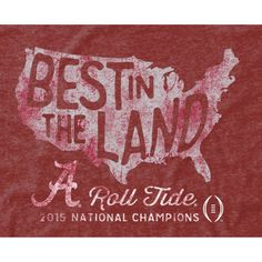 Alabama Crimson Tide College Football Playoff 2015 National Champions Pride Tri-Blend T-Shirt - Crimson