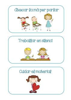 Targetes normes classe by Lila via slideshare Classroom Organisation, Classroom Rules, Classroom Decor, Classroom Management, Norman, Class Decoration, School Projects, Kindergarten, Teaching
