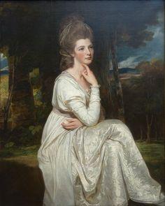 Lady Elizabeth Hamilton Countess of Derby by George Romney c. 1776