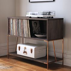 Vinyl is all the rage again—isn't it funny how vintage stuff keeps coming back?—and everyone and their roommates seem to have record players, at least here in New York. The problem is unlike those lovely mp3s, which just take up virtual space, records take up quite a bit of room. So how do you find