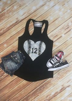 Cute baseball T-shirts, sweatshirts, jackets, and hats are favorite items of baseball and softball moms. Baseball Mom Shirts, Baseball Tank, Baseball Games, Softball Mom Shirts, Baseball Sister, Baseball Training, Sports Shirts, Mom Outfits