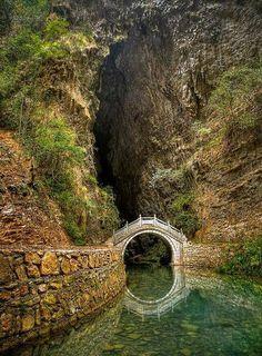 Beautiful moon bridge in China's Hunan Province!