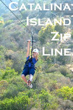 Exploring Catalina Island by zip line.  #CatalinaIsland #California #travel