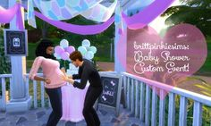 Baby Shower Custom Event Mod at Brittpinkiesims via Sims 4 Updates