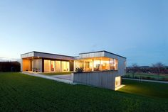 Коттедж из деревянных панелей в Нойхофене (Австрия)   Примеры домов из клееных панелей