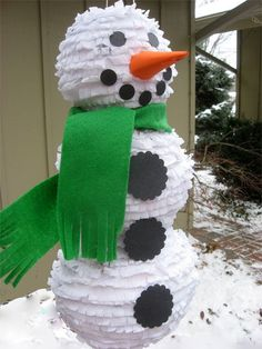 Snowman pinata, how cute!