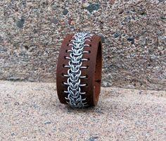 Chainmaille Bracelet, Dark Cherry. Elf Weave - CopperTreeDesign